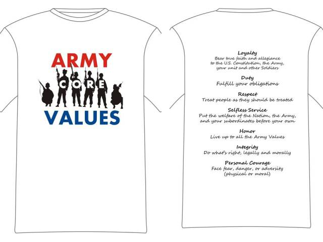 Army Core Value shirt